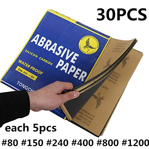 Review Of Xucus Sheets Waterproof Sandpaper 60-2000Grit Sandpaper Skin Abrasion Polished Paper 28x23...