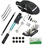 4. Chumxiny Bicycle Repair Kit, Bike Tire Repair Tool Kit Contains 16-in-1 Tool, 120Psi Mini Bicycle Pump, Bicycle Tire Patch Kit, Used for Mountain Bike and Road Bike.(Blue)