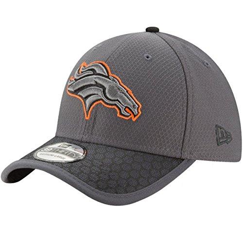 Denver Broncos New Era NFL 39THIRTY 2017 Sideline Graphite Flex Fit Hat Hut