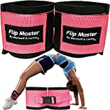 Flip Master Ankle Straps Tumbling Trainer | Gymnastics & Cheerleading Equipment For Back Flip/Tuck & Handspring Form | Adjustable Bands for Girls, Boys & Adults | For Cheer, Dance & Gymnastic Practice