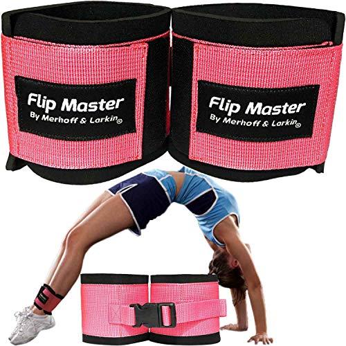 Flip Master Ankle Straps Tumbling Trainer | Gymnastics & Cheerleading Equipment For Back Flip/Tuck & Handspring Form | Adjustable Bands for Girls, Boys & Adults | For Cheer, Dance & Gymnastic Practice