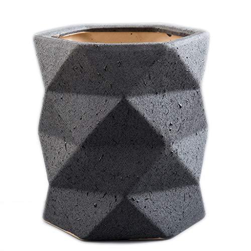 WYH Personaliteit Flower Pot 24 × 20/28 × 27 cm keramische vaas van Origami balkon woonkamer kantoor piano Monstera groene bloempot Smooth