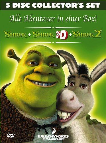 Shrek - Der tollkühne Held + Shrek 3D + Shrek 2 (Collector's Set) [Collector's Edition] [5 DVDs]