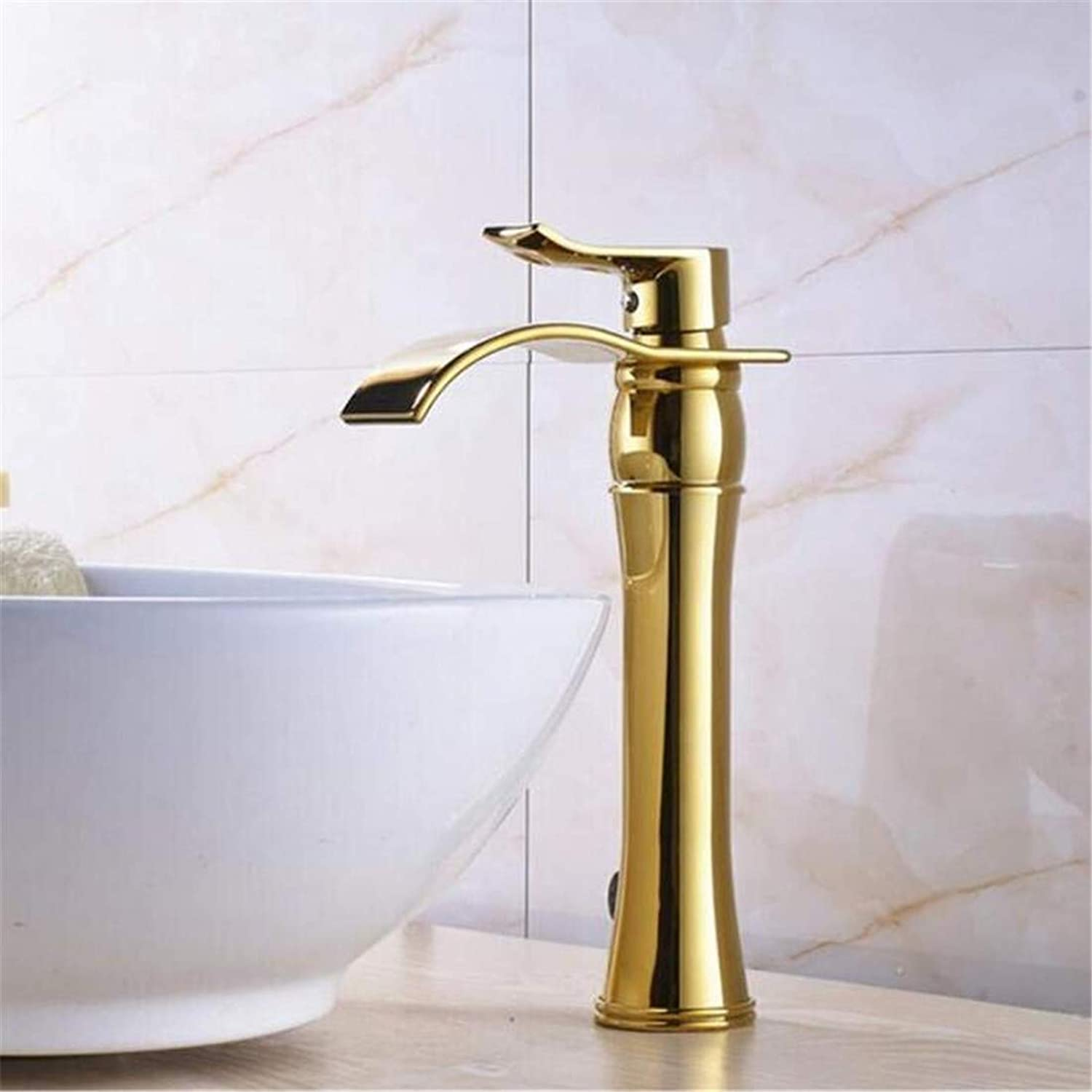 Faucet Vintage Plated Luxury Plating Faucet Faucet Washbasin Mixer Chrome Finished Spout Bathroom Basin Faucet with Mixer Tap