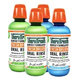 TheraBreath Fresh Breath Oral Rinse, Mild Mint, 16 Ounce Bottle (Pack of 2) and TheraBreath Gluten-Free Fresh Breath Oral Rinse, ICY Mint, 16 Ounce Bottle (Pack of 2)