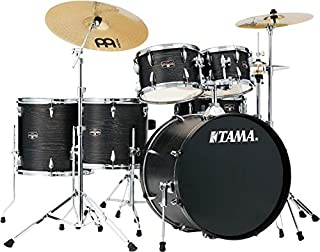 Tama Imperialstar Complete Drum Set - 6-Piece - Black Oak Wrap