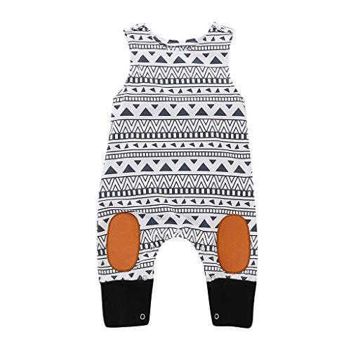 Julhold Peuter Kinderen Baby Meisje Vrije tijd Geometrische Print Jumpsuit Houd Katoen Slim Romper Kleding Outfits 0-24 Maanden