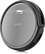 ILIFE A4s Robot Vacuum Cleaner with Strong Suction, over 100mins Run time, Self-charging, Slim, Quiet, Ideal for Hard Floo...