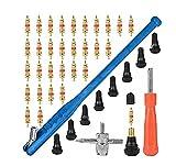 BOMY Ajuste para 43 unids / set Coche Neumático Válvula de reparación Kit de herramientas Motocicletas Herramientas de instalación Vehículos eléctricos Accessoires Válvula de neumáticos Removedor de n