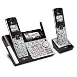 AT&T TL96273 DECT 6.0 Expandable Cordless Phone with Bluetooth Connect to Cell, Answering System and Base Speakerphone, 2 Handsets, Silver/Black (Renewed)