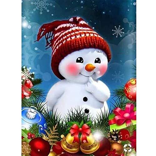 5D DIY diamante pintura muñeco de nieve punto de cruz diamante bordado dibujos animados pasatiempos y manualidades arte de pared decoración del hogar