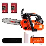 ParkerBrand 26cc 10' Petrol Top Handle Topping Chainsaw - Free Bar Cover & More