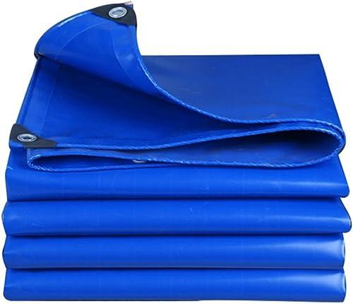 Bache Toile imperméable à l'eau de Toile de bache de bache Bleue dans Le Camping de Famille de Poncho Tissu de Pluie extérieur de Jardin, épaisseur 0.5mm, 550g   m2, 6 Options de Taille