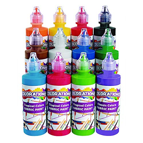 Colorations Fabric Paint - Set of All 12 (Item # FABSET)