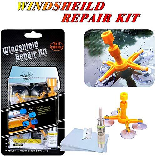 Manelord Auto Windshield Repair Kit, Car Windschutzscheiben Reparaturset Werkzeug for Windshield Chip Repair, Windshield Crack Repair and Glass Repair