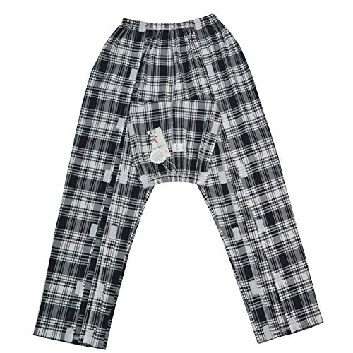 Q&M Velcro Paciente Pantalones Ropa Estar Hecho para Fractura Recuperar Pijama para...
