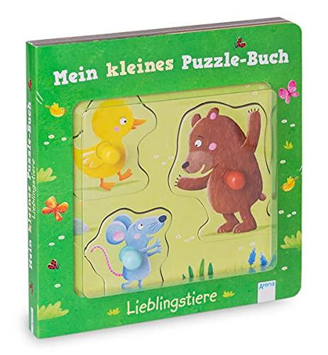 Mein kleines Puzzle-Buch. Lieblingstiere: Pappbilderbuch mit großen Puzzleteilen mit bunten Griffen - Ab 18 Monate