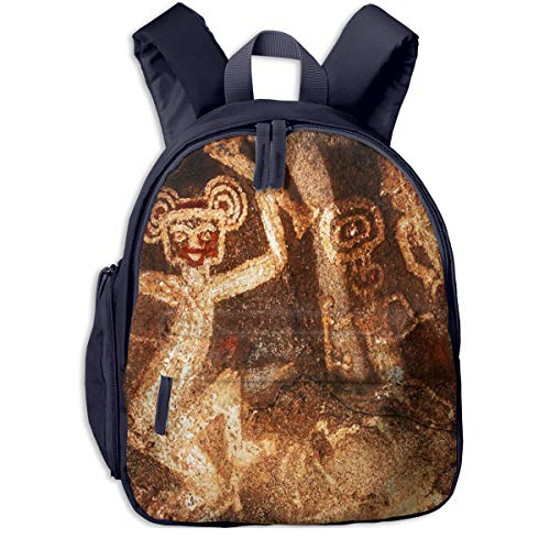 Mochilas Infantiles, Bolsa Mochila Niño Mochila Bebe Guarderia Mochila Escolar con Pintura rupestre Aguada para Niños De 3 a 6 Años De Edad
