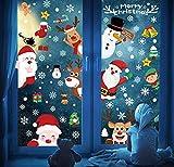 Pegatinas de Ventana de Navidad 248 Santa Claus Feliz Navidad Pegatinas de Ventana Divertidos Saludos Extraíbles Decoracion Navideña Regalos para Escaparates árbol de Navidad Papá Noel