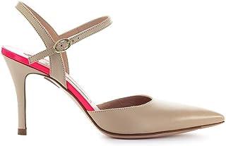Luxury Fashion | Roberto Festa Women MARTE2BEIGE Beige Leather Heels | Season Outlet