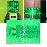 2021 Neu Grün Lasers-Zieltafel, magnetische Zieltafel mit Bein für Lasers-Pegelmesser kreuzt Linie doppelte Skala, für eine Verbesserung der Grünem Laser-Sichtbarkeit