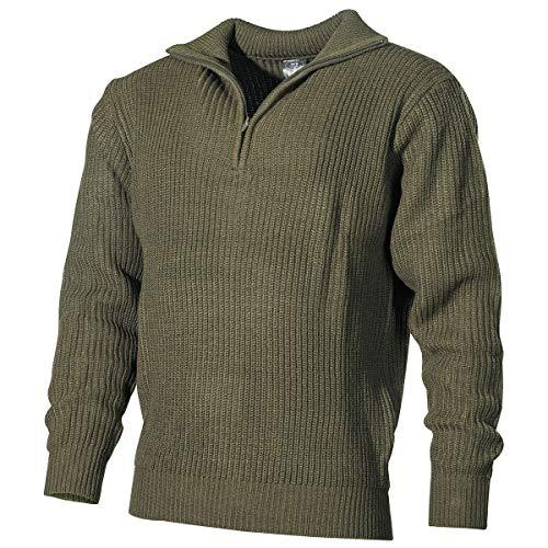 MFH Isländer Pullover, Troyer mit Reißverschluß (L, Oliv)