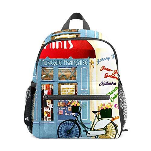 Mochila de bicicleta para casa de acuarela para niñas y niños Mini mochila de viaje Primaria Preescolar Estudiante Bolsa pequeña de la escuela