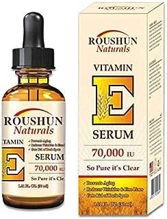 Roushun Naturals anti-aging reduces wrinkles&fine lines Vitamin E Serum