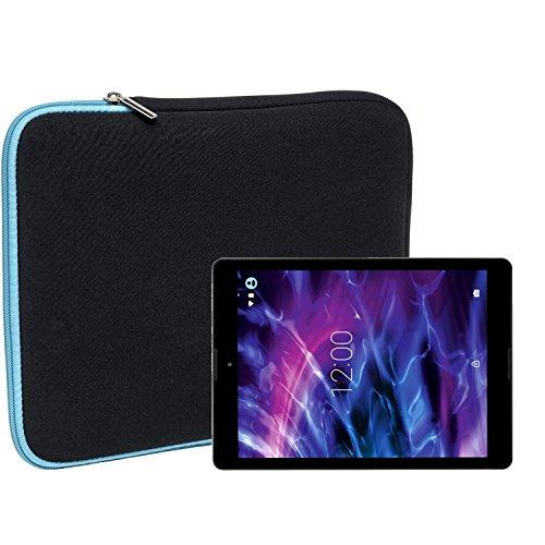 Slabo Tablet Tasche Schutzhülle für Medion Lifetab P9701 (MD90239) Hülle Etui Hülle Phablet aus Neopren – TÜRKIS/SCHWARZ