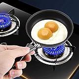 Tegami cuoci uova, Mini Padella Mini Cuoci Uovo Antiaderente, ferro, padella per le famiglie, Nero, 12 cm