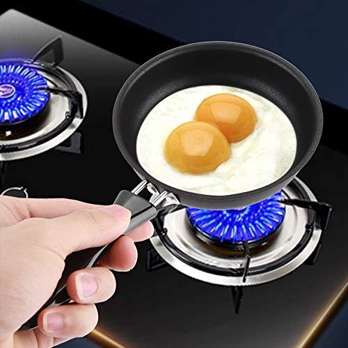 Eierbratpfanne, Mini-Bratpfanne, 12cm Runde Eierpfanne, Mini-Pfanne, Reines Eisen, Antihaftbeschichtung, für Zuhause Küche Kochen