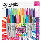 Sharpie Permanent Markers | Fine Point | Colour Burst & Assorted Original | 24 Count
