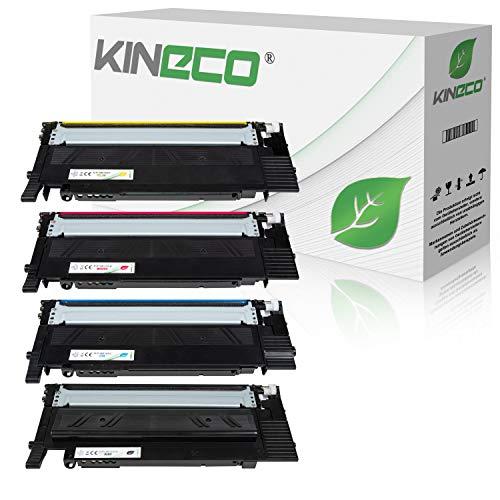 4 Kineco XL Toner kompatibel mit Samsung CLT-P404C /ELS für Samsung Xpress SL-C480FW/TEG SL-C480FN/TEG Farblaser-Multifunktionsgerät SL-C480W C480 Xpress SL-C430 C430W