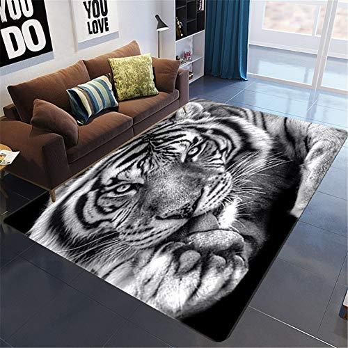 BRRLL Moderna Design Alfombra De Salón Económica Diseño Tigre 3D Rugs Mejor...
