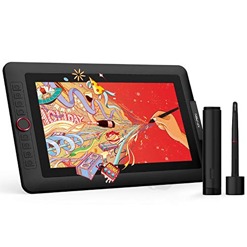 XP-PEN Artist 13.3 Pro | Tableta Gráfica con Pantalla 13.3 Pulgadas HD IPS 123% sRGB | Tableta de Dibujo con 8 Teclas de Atajo y 1 Dial | con Lápiz sin Batería | Edición Especial Festival