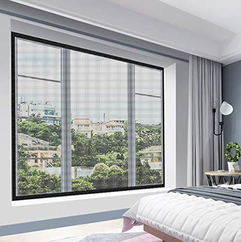 HTDG Vliegengaas voor dakramen, zwart, met zelfklevend, voor ramen, vliegengaas voor aluminium ramen, gemaakt van een vliegengaas voor ramen
