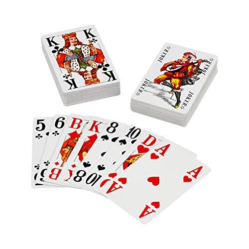 Senioren Romme speelkaarten 2 x 55 vellen met extra grote cijfers en letters