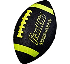 Franklin Sports Junior Size Football Extra Grip Synthetic Leather Perfect for Kids Grip-Rite Youth Footballs