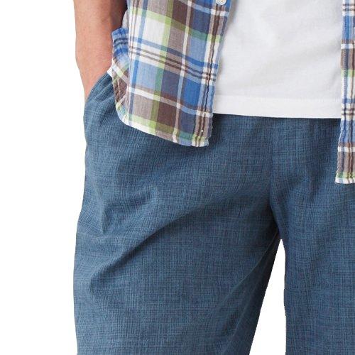 セルヴァン高島ちぢみポケット付ゆったりステテコ男性用グレイッシュブルーM