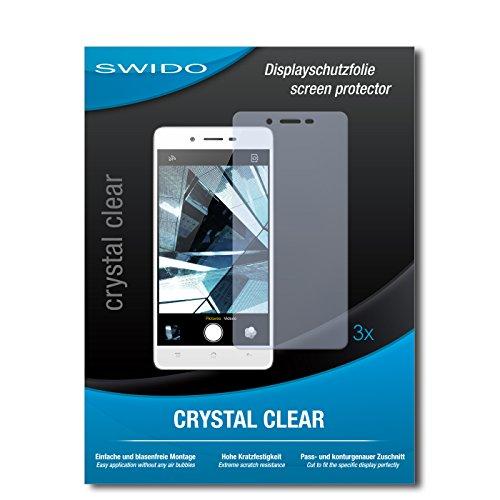 SWIDO Bildschirmschutzfolie für Oppo Mirror 5 [3 Stück] Kristall-Klar, Extrem Kratzfest, Schutz vor Öl, Staub & Kratzer/Glasfolie, Bildschirmschutz, Schutzfolie, Panzerfolie