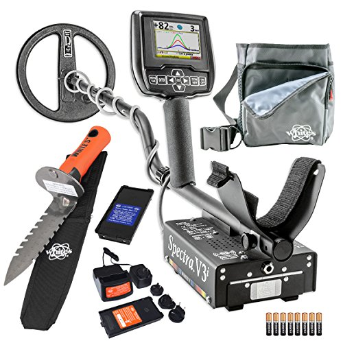 Lowest Price! Whites Spectra V3i Metal Detector Diggers Special w/DigMaster & Utility Pouch