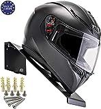 BESTUNT Helmet Display | Mount for Motorcycle Holder Shelf Rack Storage Fixation | Mount on Wall White