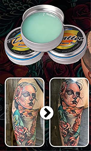 Tattoo Brightening Aftercare Balm, Tattoo Lotion Kleurverbetering voor oude tatoeages, Recovery Aftercare Tattoo Salve (2 stuks)