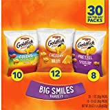 Pepperidge Farm Goldfish Crackers Big Smiles Variety Pack Box, 30-count Snack Packs