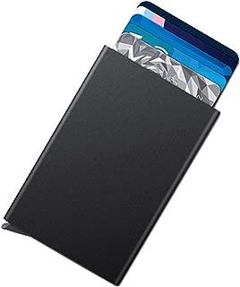 Aluminum Stainless Steel Card Wallet Credit Card Holder - RFID Blocking Slim Wallet Front Pocket Card Protector