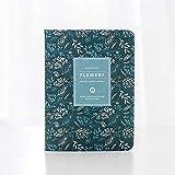 Diario -Kawaii Horario de cosecha de flores anual diario semanal mensual planificador diario organizador papel Notebook, Tamaño: A6 (azul marino) regalo (Color : Pink)