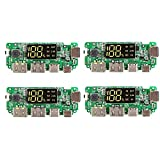 4 PCS litio módulo de visualización del cargador del banco de la batería del módulo 5V 2.4A móvil digital de potencia de carga Junta con pantalla Boost tablero del módulo
