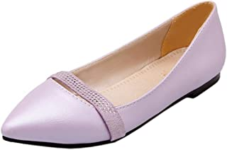 RAZAMAZA Femmes Bout Pointu Plat Ballet Chaussures