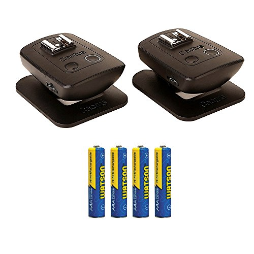 Cactus Wireless Flash Transceiver V5 Duo AAA NiMH Rechargeable Batteries (1000mAh) 4-Pack