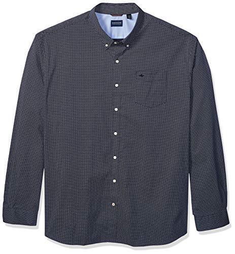 dockers Big and Tall Long Sleeve Button Down Comfort Flex Shirt Camisa con Cuello Abotonado, Pembroke, X-Large Alta para Hombre